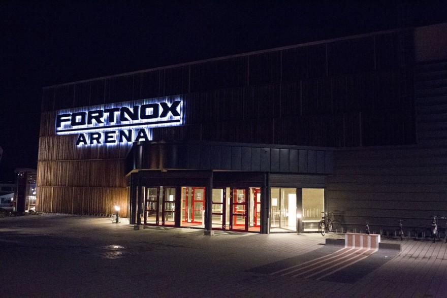 Fortnox Arena i kvällsskrud
